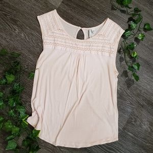 🌿2/$15 - LC Lauren Conrad Light Pink/Blush Blouse